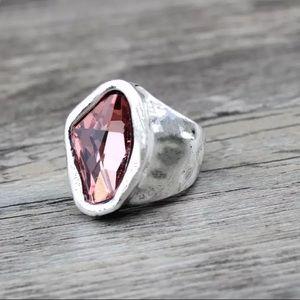 🎉Bohemian Vintage Irregular Crystal Ring